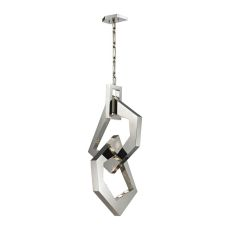 Links 8 Light Pendant In Polished Stainless Steel