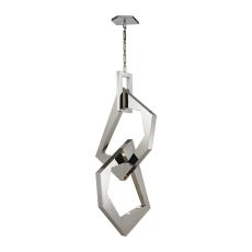 Links 12 Light Pendant In Polished Stainless Steel