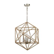 Exitor 4 Light Chandelier In Polished Nickel