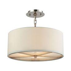 Selma 3 Light Pendant In Polished Nickel - Small