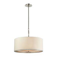 Selma 3 Light Pendant In Polished Nickel - Large