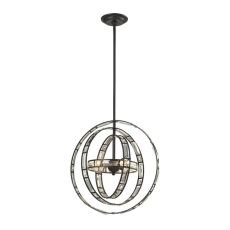 Crystal Orbs 3 Light Pendant In Oil Rubbed Bronze