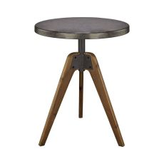 Rolfe Round Table, Natural Woodtone, Tin