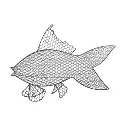 Wire Fish Wall D