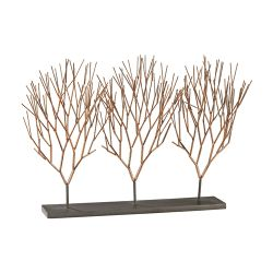 Prairie Coppery Ombre With Dark Bronze 13-Inch Metal With Resin Botanical Stand