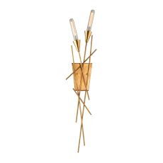 Sticks 2 Light Wall Sconce In Antique Gold Leaf