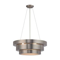 Layers 3 Light Chandelier In Brushed Stainless