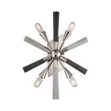 Solara 4 Light Wall Sconce In Polished Chrome