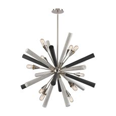 Solara 10 Light Chandelier In Polished Nickel