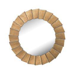Qattara Composite Frame Wall Mirror In Bright Gold