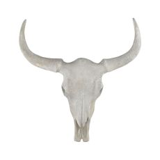 Big Wells Steer Skull In Sigma Stone Wall Decor, Sigma Stone