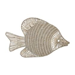 Wicker Fish Wall Décor