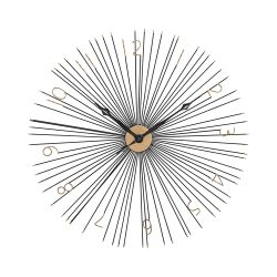 Shockfront Black And Gold 36-Inch Metal Wall Clock