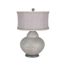 Terra Cotta Gourd Lamp, Concrete, Taupe, Rope