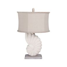 Stone Nautilus Table Lamp In Aged Silver