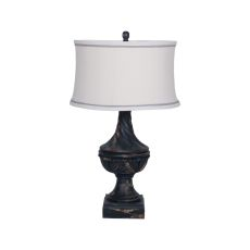 Carved Madison Table Lamp In Vintage Noir