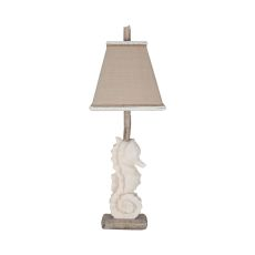 Stone Seahorse Table Lamp In Aged Stone
