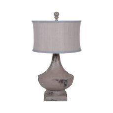 Vintage Table Lamp In Vintage Bleu Gris, Vintage Bleu Gris, Weathered Tuscan