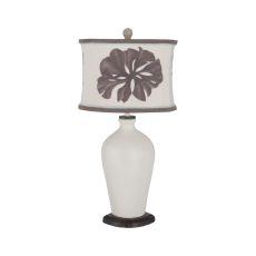 Terra Cotta Table Lamp Xii In Vintage Bouleau Blanc, Vintage Bouleau Blanc
