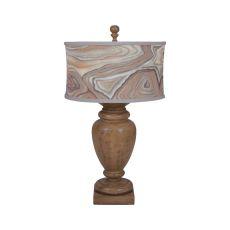 Turned Urn Table Lamp In Artisan Dark Stain, Artisan Dark Stain