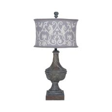 Carved Madison Table Lamp In Champagne Gold