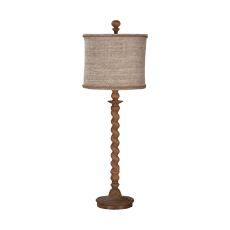 Barley Twist Spindle Table Lamp In Honey Oak Stain, Honey Oak