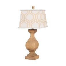 Carved Beacon Table Lamp In Artisan Stain