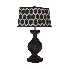 Carved Beacon Lamp, Ash Black