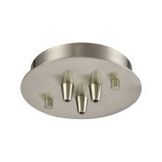 Illuminaire Accessories 3 Light Small Round Canopy In Satin Nickel