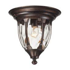 Glendale 1 Light Outdoor Flushmount In Regal Bronze