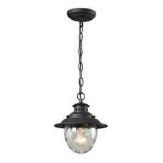 Searsport 1 Light Outdoor Pendant In Weathered Charcoal