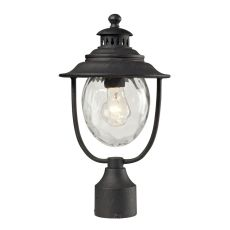 Searsport 1 Light Outdoor Post Lamp In Weathered Charcoal