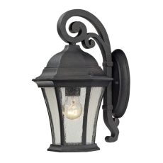 Wellington Park 1 Light Outdoor Sconce In Weathered Charcoal