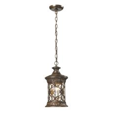 Orlean 1 Light Outdoor Pendant In Hazelnut Bronze