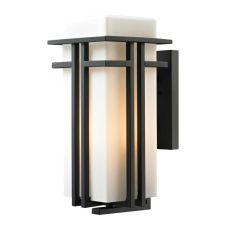 Croftwell 1 Light Outdoor Sconce In Textured Matte Black
