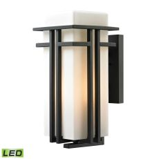 Croftwell 1 Light Outdoor Led Sconce In Textured Matte Black