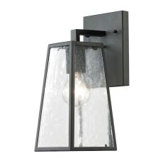 Meditterano 1 Light Outdoor Sconce In Textured Matte Black