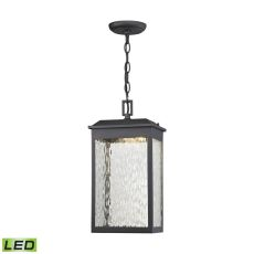 Newcastle Led Outdoor Pendant In Matte Black