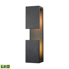 Pierre Led Outdoor Wall Sconce In Textured Matte Black