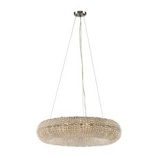 Crystal Ring 10 Light Chandelier In Polished Chrome