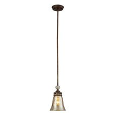 Cheltham 1 Light Pendant In Mocha And Champagne Plated Glass