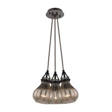Danica 3 Light Pendant In Oil Rubbed Bronze
