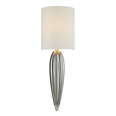 Martique 1 Light Wall Sconce In Chrome And Silver Leaf