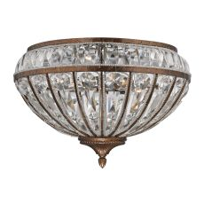Empire 4 Light Flushmount In Mocha And Clear Crystal