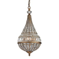 Empire 3 Light Pendant In Mocha And Clear Crystal