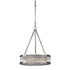Linden Manor 3 Light Pendant In Crystal And Polished Nickel