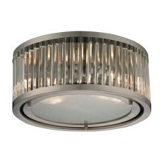 Linden Manor 2 Light Flushmount In Crystal And Brushed Nickel