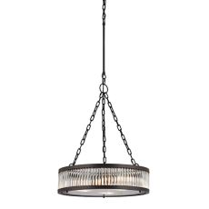Linden Manor 3 Light Pendant In Crystal And Oil Rubbed Bronze