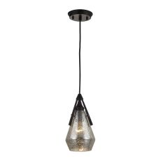 Duncan 1 Light Pendant In Oil Rubbed Bronze And Antique Mercury Glass