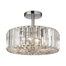 Clearview 3 Light Semi Flush In Polished Chrome